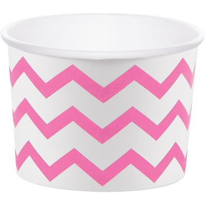 "Chevron Stripe Treat Cups Classic Pink 6.4 x 8.8cm (2.5 x 3.5"")"