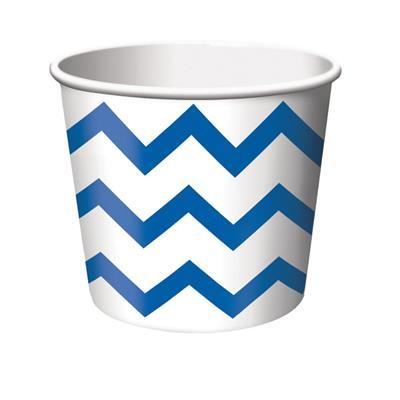 "Chevron Stripe Treat Cups Cobalt 6.4 x 8.8cm (2.5 x 3.5"")"