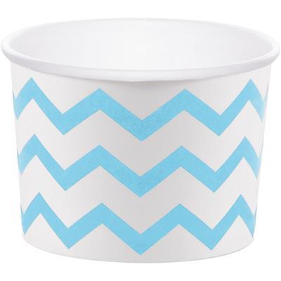 "Chevron Stripe Treat Cups Pastel Blue 6.4 x 8.8cm (2.5 x 3.5"")"