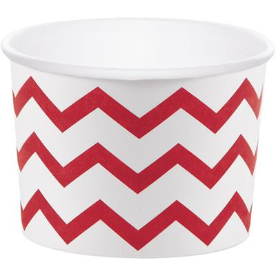 "Chevron Stripe Treat Cups Red 6.4 x 8.8cm (2.5 x 3.5"")"