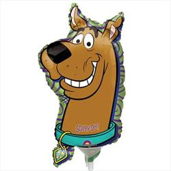 Scooby Doo Head Mini Shape Air filled with cup and stick.