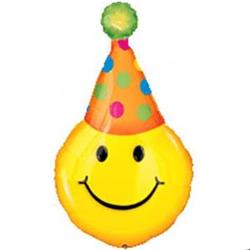 Party Hat Smiles SuperShape 56cm x 99xm .New