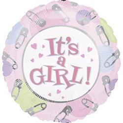 Its A Girl Dot & Pins 10cm
