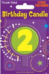 2 Round Candle