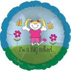 I'm a Big Sister 45cm Foil