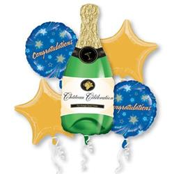 Champagne Bottle Congratulations Bouquet