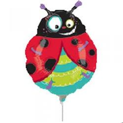 Lady Bug Mini Shape Air filled with cup and stick.