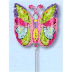 Whimsical Garden Butterfly Mini Shape Air filled with cup and stick.