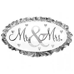 Wedding Mr & Mrs SuperShape 48cm x 81cm NEW