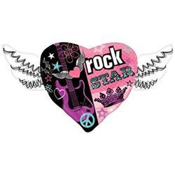 Rocker Girl Heart With Wings Shape