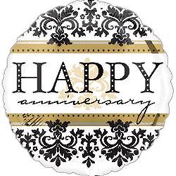 Happy Anniversary Damask 23cm