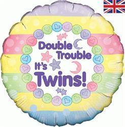 Oaktree Double Trouble It's Twins 45cm Foil