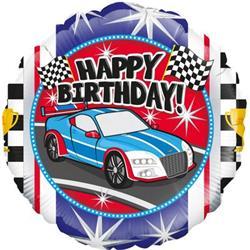 Oaktree Sports Car Birthday 45cm Foil.