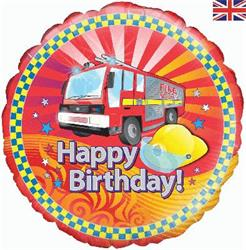 Oaktree Fire Engine Birthday 45cm Foil