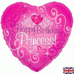 Oaktree Happy Birthday Princess Holographic 45cm Foil
