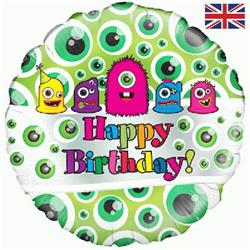 Oaktree Monsters Birthday 45cm Foil