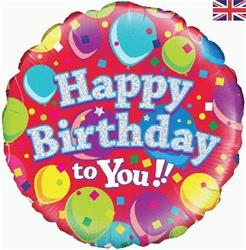 Oaktree Happy Birthday To You Holographic 45cm Foil