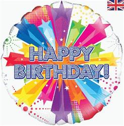 Oaktree Bright Star Birthday Holographic 45cm Foil