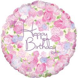 Oaktree Vintage Floral Birthday 45cm Foil