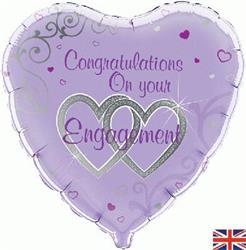 Congratulations On Your Engagement 45cm Foil.