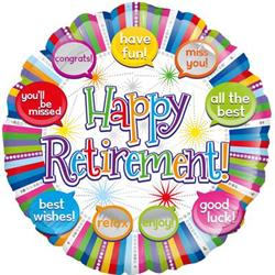 Oaktree Happy Retirement Speech Bubble 45cm Foil