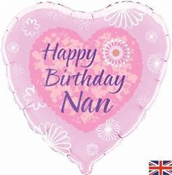 Happy Birthday Nan 45cm Foil