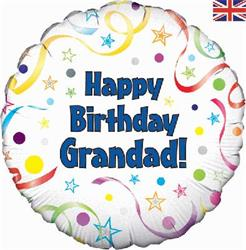 Happy Birthday Grandad 45cm Foil