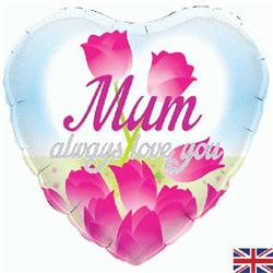 Oaktree Mum Always Love You Holographic 45cm Foil