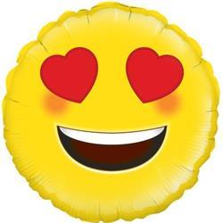 Oaktree Heart Eyes Emoji 45cm Foil.
