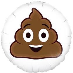 Oaktree Smiling Poop Emoji 45cm Foil
