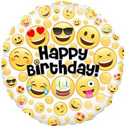 Oaktree Birthday Emoji 45cm Foil