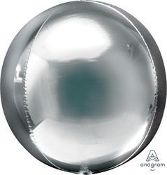 Orbz Dazzling Silver Solid Colour 43cm x 45cm