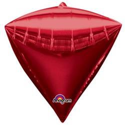 Diamondz Bright Red Solid Colour 40cm x 43cm