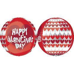 Orbz HVD Red and White Hearts 43cm x 45cm