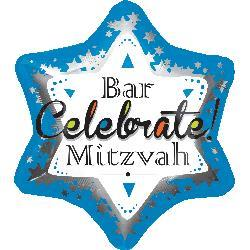 Bar Mitzvah Blue Junior Shape 48 x 53cm