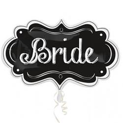Wedding SuperShape Bride Chalkboard Marquee 69cm x 41cm NEW