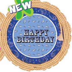 Happy Birthday Blue Bandana 45cm