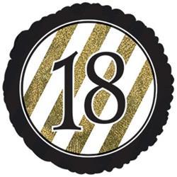 18 Black and Gold Stripe 45cm Foil