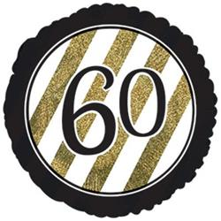 60 Black and Gold Stripe 45cm Foil