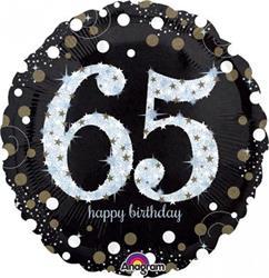 Sparkling Birthday 65 Holographic Sparkles 45cm