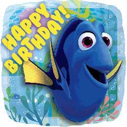 Finding Dory Happy Birthday Foil Balloon 43cm HX
