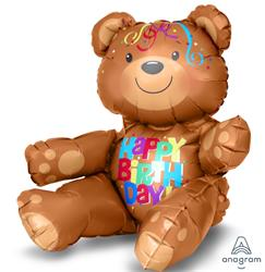 Happy Birthday Sitting Bear 50 x 33cm