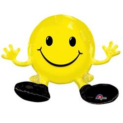 Sitting Smiling Face Yellow Multi Balloon 48cm x 33cm
