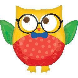 Hip Hip Hooray Grad Owl 76cm x 66cm