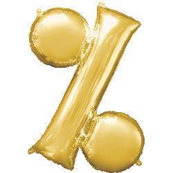 Symbol % Gold 76cm x 91cm