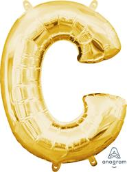 "Letter C Gold 16"" 40.5cm"