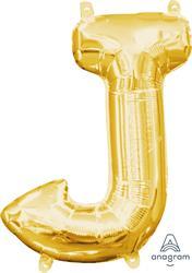 """Letter J Gold 16"""" 40.5cm"""