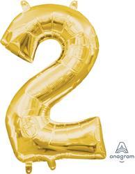 """Number 2 Gold 16"""" 40.5cm"""
