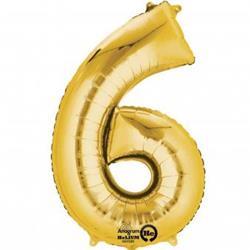 """Number 6 Gold 16"""" 40.5cm"""