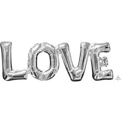 SuperShape Phrase LOVE Silver 63cm  x 22cm